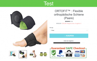Ortofit im Test: bei Fersensporn und Plattfuß?